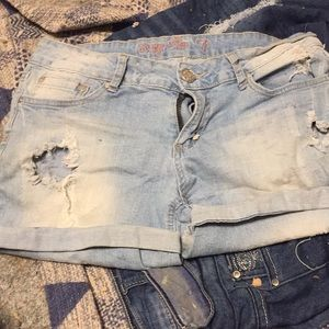 Shorts with holes